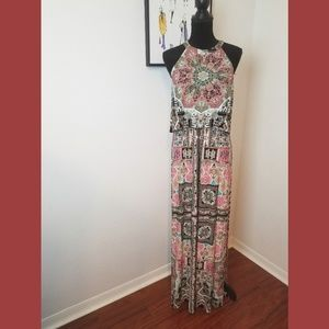 Boston Proper Sleeveless Overlay Maxi Dress Small